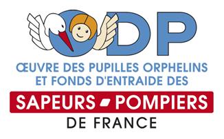 Logo ODP, Oeuvre des Pupilles des Orpheliens et fond d'entraide des Sapeurs-pompiers de France